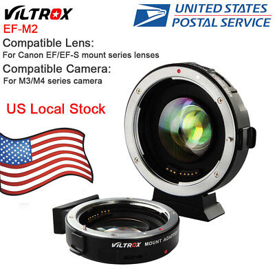 VILTROX EF-M2 Speed Booster Auto Focus 0.71x Aperture for Canon EF lens to M4 M3