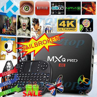2017 MXQ PRO Quad Core 4K Android 6.0 Lollipop TV Box Fully Load KODI XB-MC HD