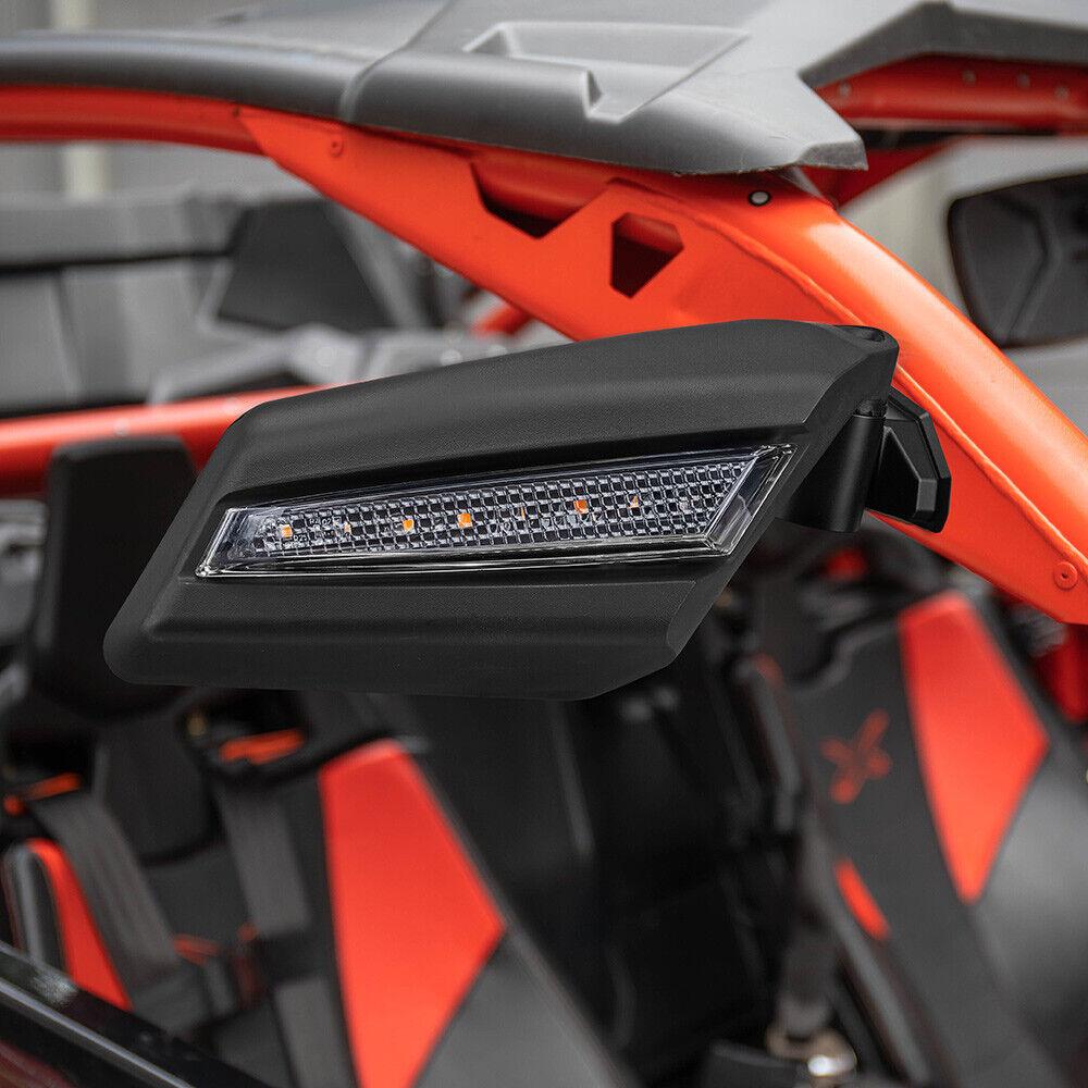Blue Seizmik Strike Side View Mirrors for 2017-2020 Can-Am Maverick X3 MAX