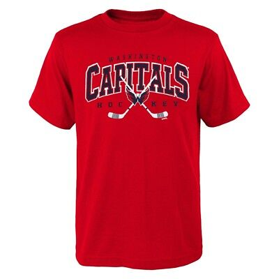 Washington Capitals Outerstuff NHL Youth Red Hockey Sticks T-Shirt Washington Capitals Hockey