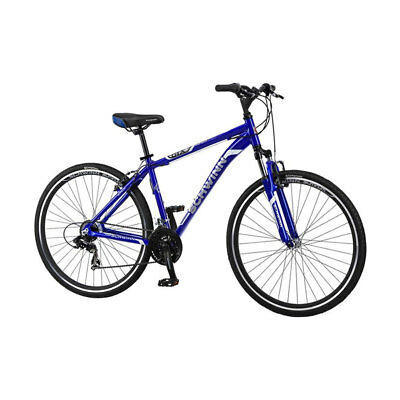 Schwinn S2782SCB Men's 7 Speed 18 Inch GTX 1 Hybrid Bicycle, Blue and Silver