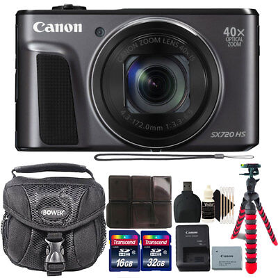Canon PowerShot SX720 HS 20.3MP Digital Camera with 48GB Top Accessory Kit
