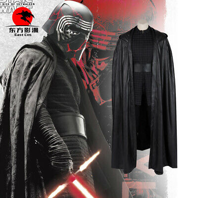 Kylo Ren Cosplay Star Wars 9 The Rise of Skywalker Costume Cloak Cape Gloves