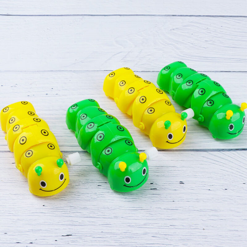 Lovely Plastic Caterpillar Wind Up Toys Kids Daily Funny Toy Gifts Color Random