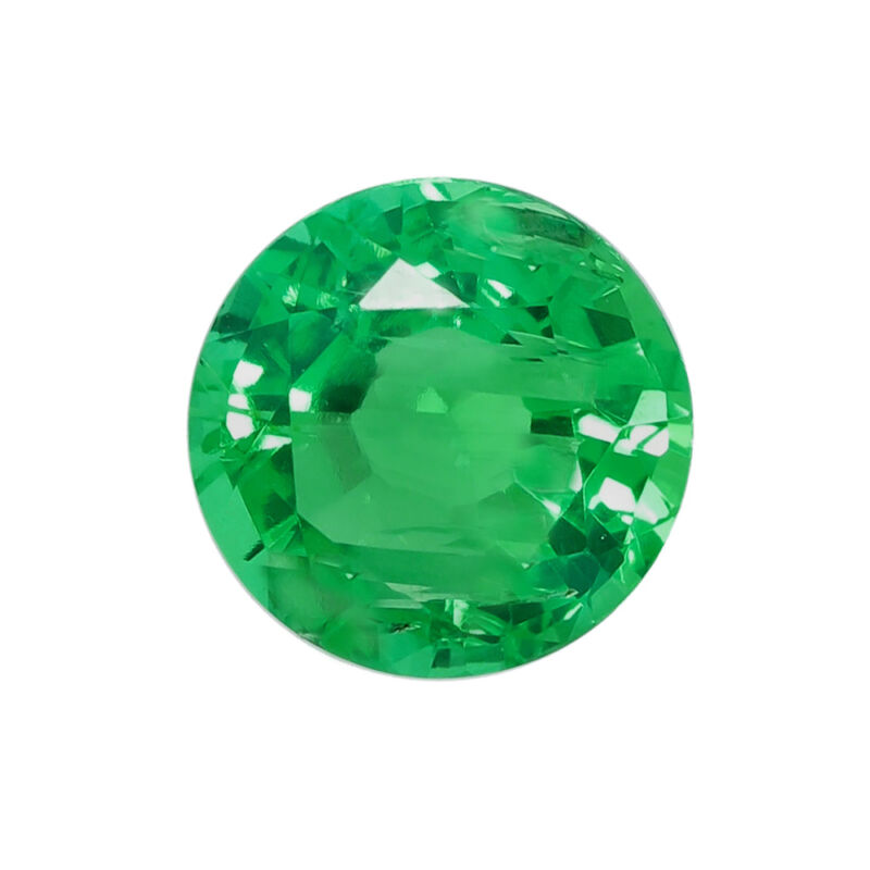 Lab Created Hydrothermal Colombian Emerald Round Faceted Loose Stones (2mm-12mm)