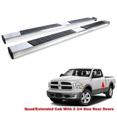 78in Bars - 78in Flat Running Boards For 09-18 Dodge Ram 1500 Quad Cab Nerf Bars Side Steps
