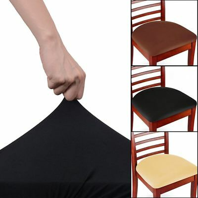 - Soft Stretch Removable Easy Fit Dining Chair Seat Covers Protectors Slipcover