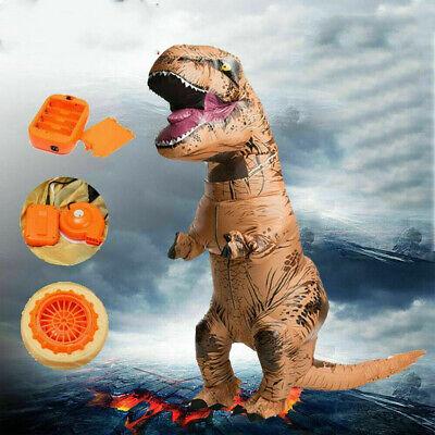 Nuovo Adulto Gonfiabile Jurassic World Park Dinosauro T-Rex Costume Vestito