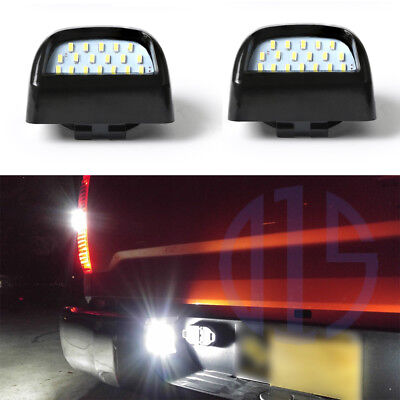 Bright White LED Tag License Plate Light Assembly For 1999-2013 Silverado Sierra