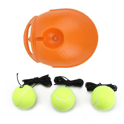 3 Balls+ Singles Tennis Trainer Rebound Balls Back Base Tool Random colours