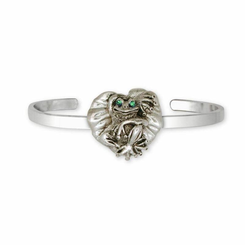 Frog Bracelet Jewelry Sterling Silver Handmade Frog Bracelet FG4-XCB
