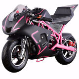 4-Stroke 40CC 1.2L Gas Pocket Bike Mini Motorcycle EPA, Pink/Black (NO CA)