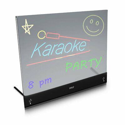 Pyle Erasable Desktop Illuminated Led Writing Board With Remote Control And 8