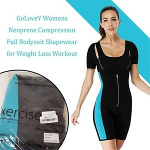 NEW GoLoveY Womens Neoprene Compression Full Bodysuit Shapewear for Weight Loss Workout Condtion: New, 3XL(US12-14), ...