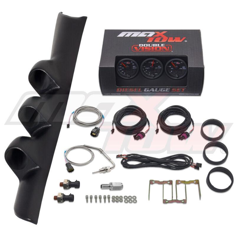 MaxTow Boost EGT Fuel PSI + Triple Pod for 94-97 Dodge Ram 2500 3500 12v Cummins