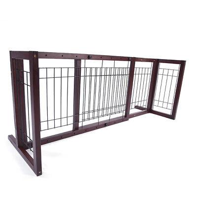 Indoor Home Safety Woode Baby Barrier Freestanding Extra Wide Pet Fence Gate Dog