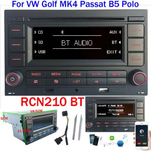 Autoradio RCN210 mit Bluetooth CD SD MP3 USB für VW Golf 4 MK4 Passat B5 Polo