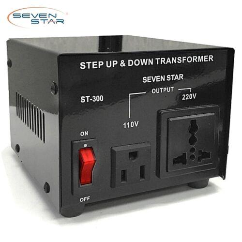SevenStar ST-300W Watt Voltage Transformer Up/Down 110V to 220V Power Converter