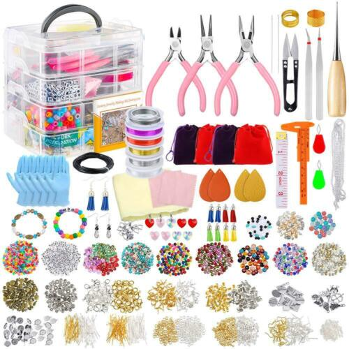 Jewelry Making Supplies Kit For Necklace Bracelet Earrings Making Repair Tools