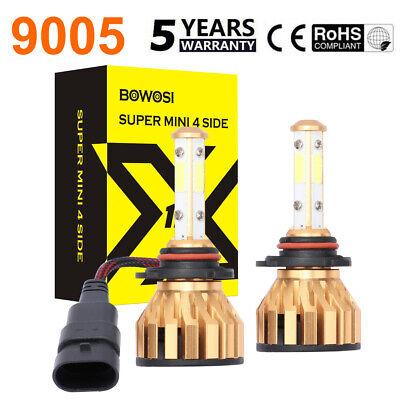 4 Sides 9005 HB3 1900W 285000LM LED Headlight Bulb High Beam 6500K White Light