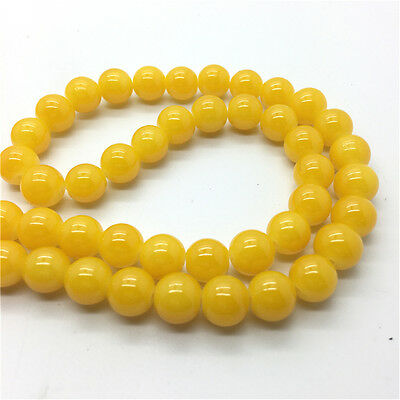 50Pcs 6mm Jade Color Glass Pearl Round Spacer Loose Beads Jewelry Making #6M32