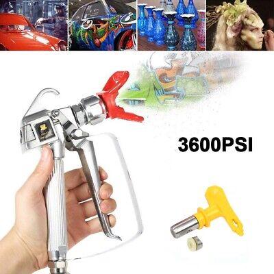 3600psi Airless Paint Spray Gun W 517 Tip Guard Swivel Joint Kit High Pressure