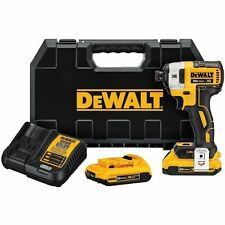 "DEWALT DCF887D2R 20V MAX Li-ion 2.0 Ah Brushless 0.25"" 3-Speed Impact Driver Kit"