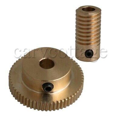 160 0.5 Brass Worm Gear Shaft Yellow