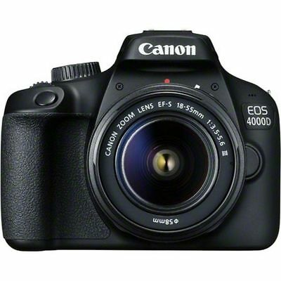 Canon EOS 4000D DSLR-Kamera und EF-S 18-55 mm f/3.5-5.6 III Objektiv uns