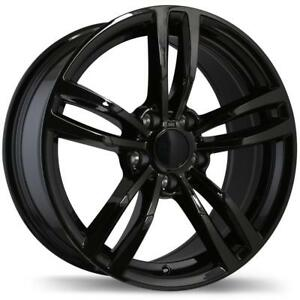 "Roues 17"" Replika Wheel Set BMW Winter Rims 17x8 5x120mm +35 Winter Black Rims Wheels 17"