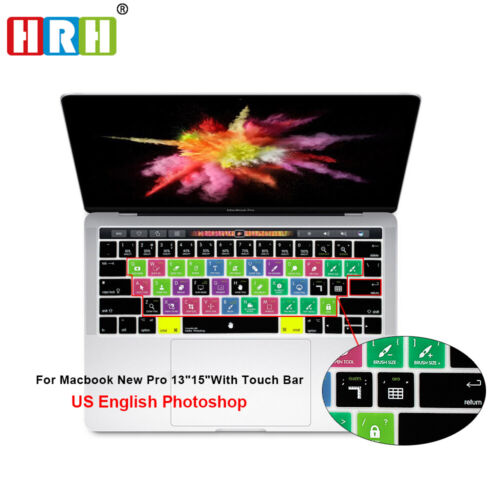 Shortcuts Silicone Keyboard Cover for Mac Pro Touch Bar A170