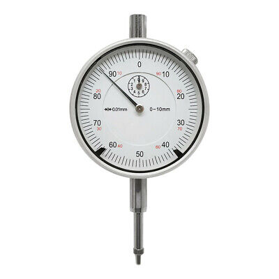 10mm Precision Dial Indicator .01mm AGD2 Graduation Travel Lug Back Gauge Gage