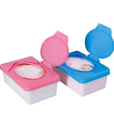 1pc Home Plastic Wet  Tissue Baby Wipe Box Case Holder Press Automatic Up Design