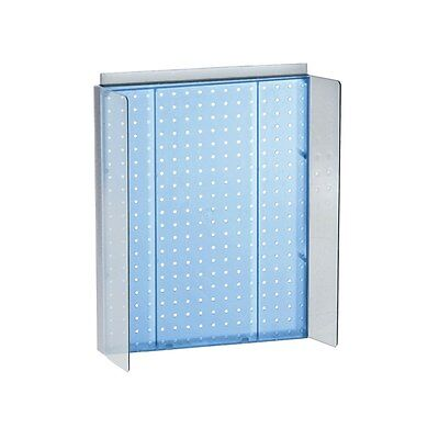 Styrene Pegboard Powerwing Display In Blue 16w X 20.25h Inches