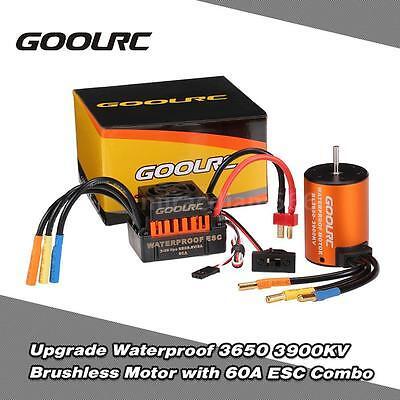 Best GoolRC Waterproof 3650 3900KV Brushless Motor /60A ESC for 1/10 RC Car (Best Brushless Motors)