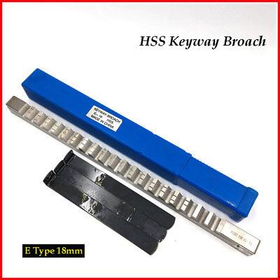 Metric Keyway Broach 18mm E Type Shim Cutter Involute Spline Cutting Machine