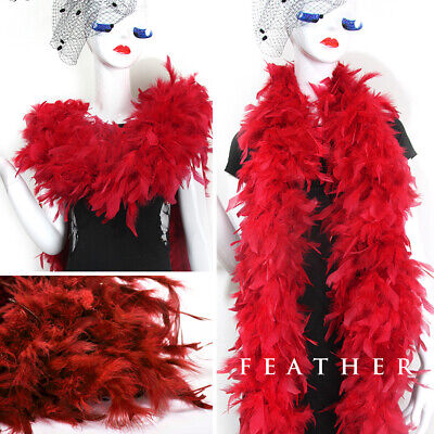 90g Handmade Feather Boa Craft Scarf Costume Dressup Wedding Party Dance Decor - Party Boa