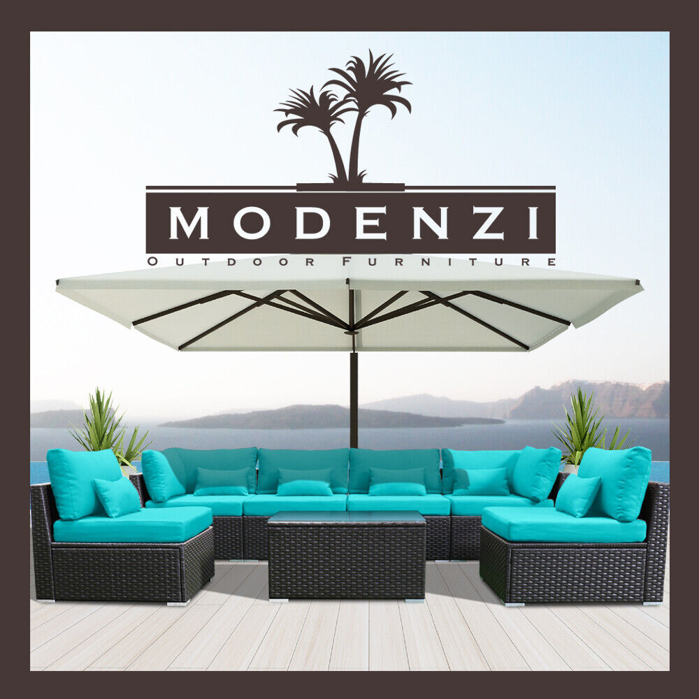 7PC Outdoor Patio Furniture Rattan Wicker Sectional Sofa Cha