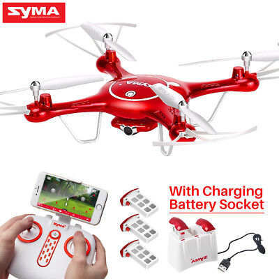 Wifi FPV Camera Drone Syma X5UW RC Flight Plan 2.4G APP Control Hover Quadcopter