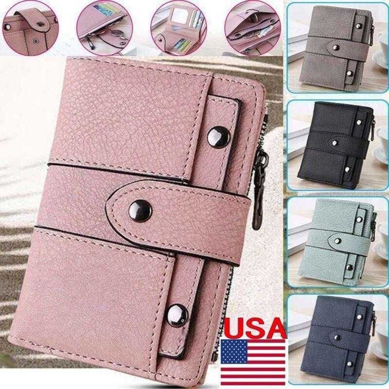 Women Girl Short Wallet Leather Small Clutch Coin Purse Card Holder Handbag Gift