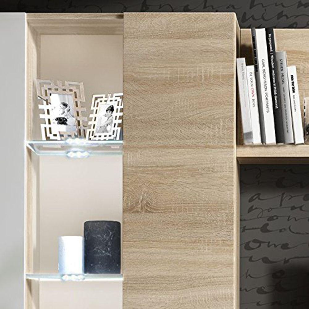 Mueble de comedor modulo moderno para salon con leds for Modulos muebles salon