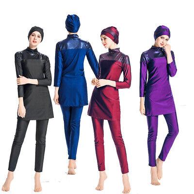 Frauen Beachwear islamischen Full Cover Suit Burkini Muslim Bademode Badeanzug