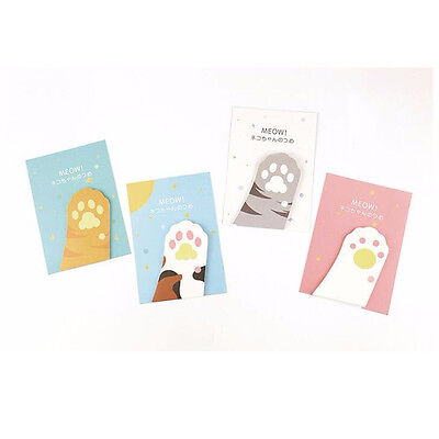 Cute Cartoon Meow Kitty Cat Paw Prints Memo Pad Sticky Note Page Marker Planner - Kitty Paw