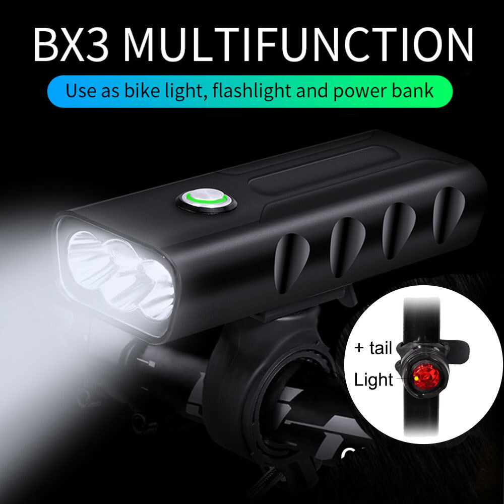 T6 LED 2000Lm Bicycle Bike light Headlight Front Head Rear Lamp Set Rechargeable