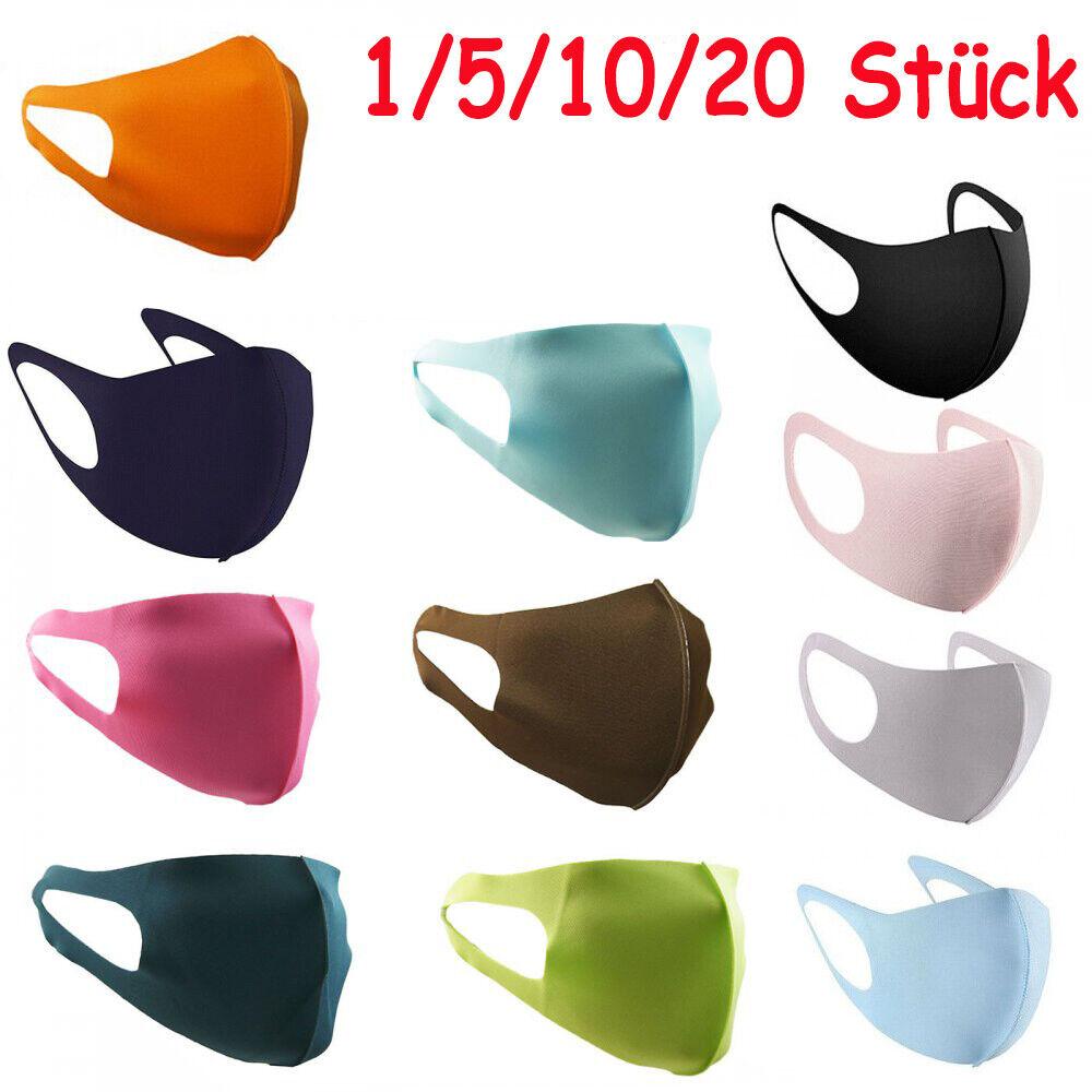 Maske Stoffmaske elastisch 3 D Mund Nasen Maske Waschbar Elastan
