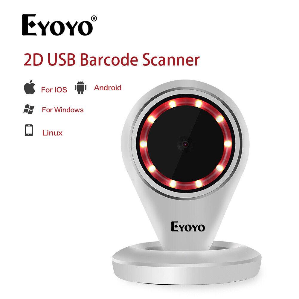Details about Eyoyo 1D/2D/QR Platform Barcode Scanner Handfree Screen  Scanner for Linux Store