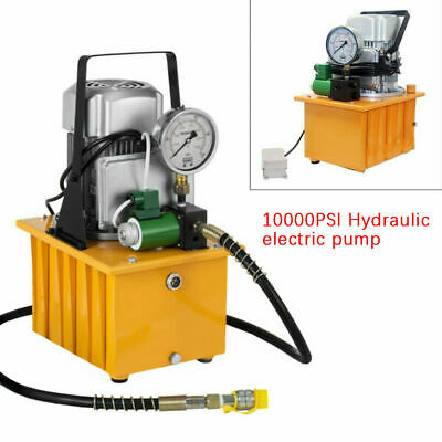 750w 7l Electric Driven Hydraulic Pump 10000psi Pedal Solenoid Valve Control Us