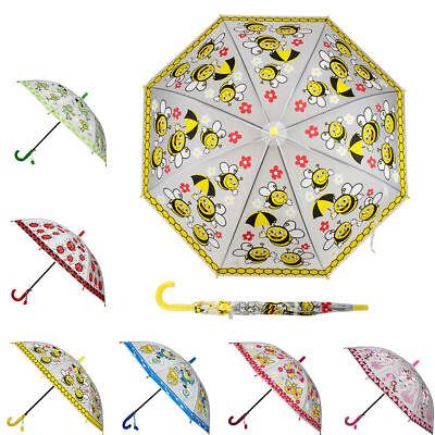 New Cartoon Animal Print Childs Girls Kids Umbrella With Hoo