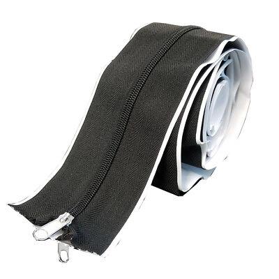 6.5Ft Tarp Zip Up Zipper Door Cloth Peel Stick Doorway 79