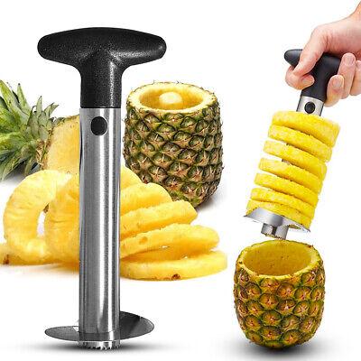 Fruit Pineapple Corer Slicer Peeler Cutter Parer Stainless Kitchen Tool KIT UK
